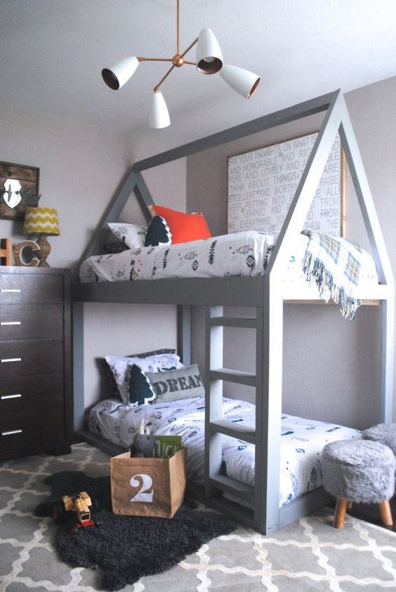 22 inspira es de quartos com beliche. Black Bedroom Furniture Sets. Home Design Ideas