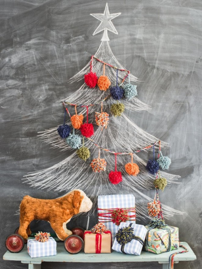 19.-Deck-The-Tree-With-Yarn-Pom-Poms-1-768x1024