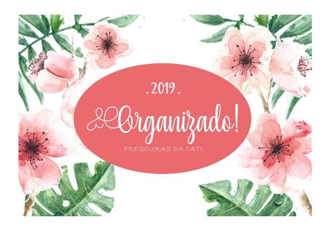 Capa planner 2019 - Capa rosa escuro