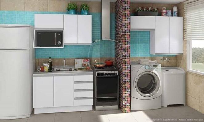 decoração-de-cozinha-com-área-de-serviço-integrada