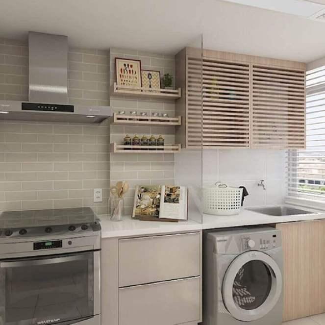 modelo-de-armário-para-lavanderia-pequena-integrada-com-cozinha-Foto-Pinterest