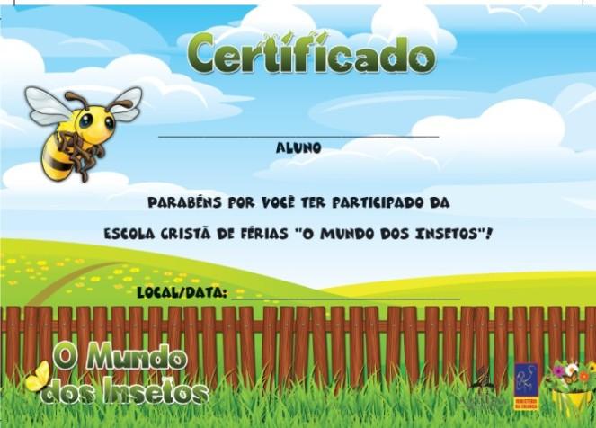 Certificado - Crianças